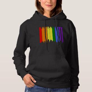 Kansas City Kansas Gay Pride Rainbow Skyline Hoodie