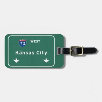 Kansas City KC Missouri Interstate Highway Freeway Luggage Tag