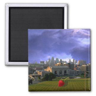 Kansas City Kitchen Art Square Magnet
