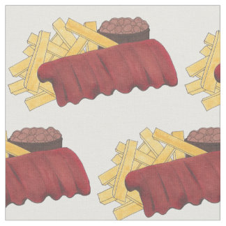 Kansas City Memphis BBQ Barbecue Spare Ribs Foodie Fabric