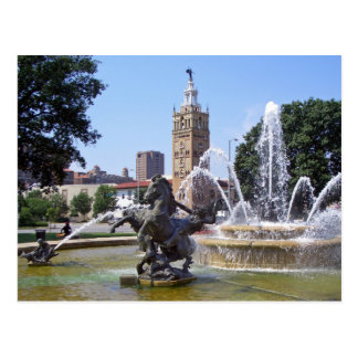 Kansas City, Missouri Plaza Fountain Postcard