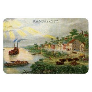 Kansas City MO 1850 (incorporated as a town) Rectangular Photo Magnet