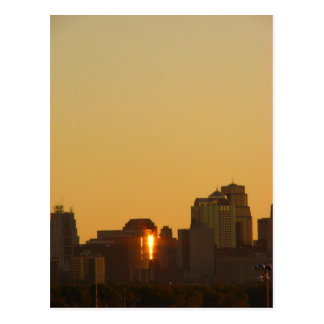 Kansas City MO from a distance Postcard