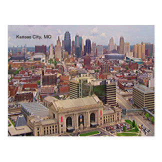 Kansas City, MO Skyline Memorial Liberty Area Postcard