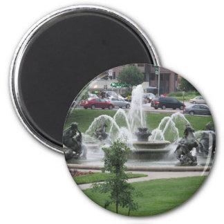Kansas City Plaza fountain 6 Cm Round Magnet