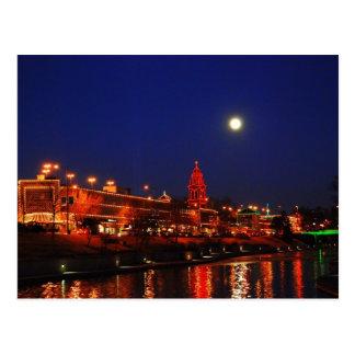 Kansas City Plaza Lights Under a Full Moon Postcard