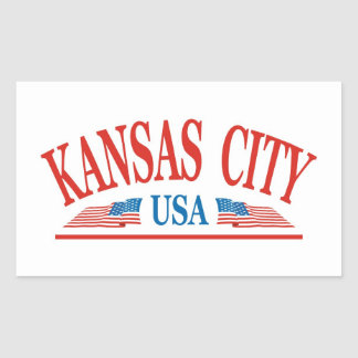 Kansas City Rectangular Sticker