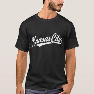 Kansas City script logo in white T-Shirt