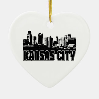 Kansas City Skyline Ceramic Ornament