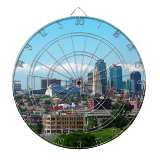 Kansas City Skyline Dartboard