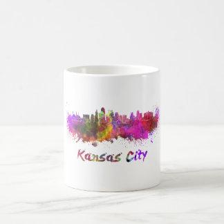 Kansas City skyline in watercolor Coffee Mug