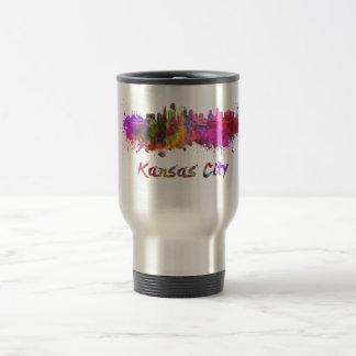 Kansas City skyline in watercolor Mug