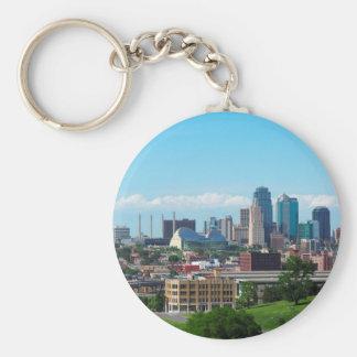 Kansas City Skyline Key Ring