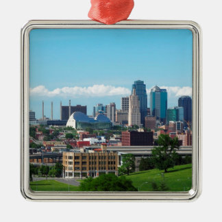 Kansas City Skyline Metal Ornament