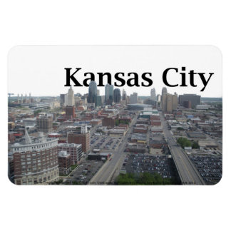 Kansas City Skyline with Kansas City in the Sky Rectangular Photo Magnet