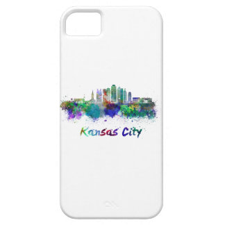 Kansas City V2 skyline in watercolor iPhone 5 Case