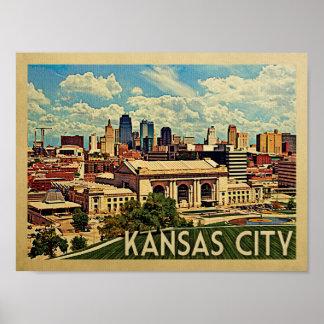 Kansas City Vintage Travel Poster
