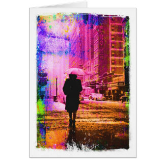 Kansas City W. 12th Street, Colorful Grunge Border Card