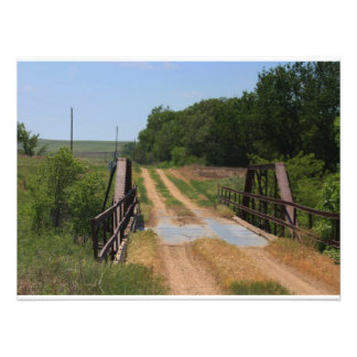 Kansas Country Bridge  Photo Enlargement