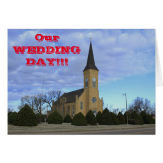 Kansas Country Church Wedding Greeting Card