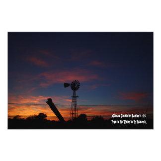 Kansas Country Sunset Photo