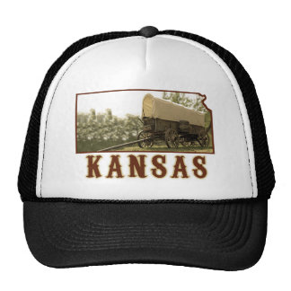Kansas Covered Wagon Mesh Hat