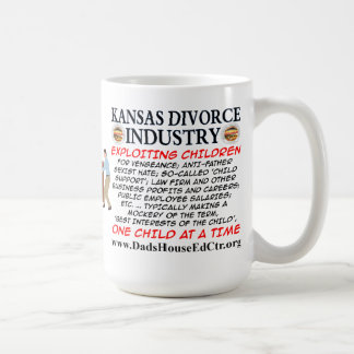 Kansas Divorce Industry. Basic White Mug