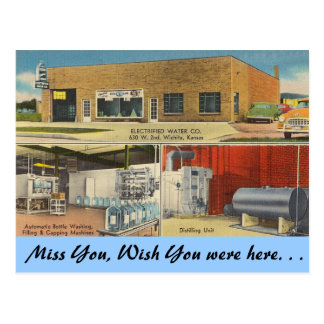 Kansas, Electrified Water Co., Wichita Post Card