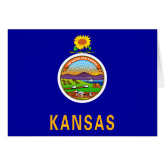 Kansas Flag Note Card