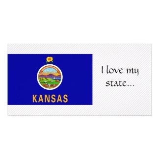 Kansas Flag Personalized Photo Card