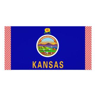 Kansas Flag Customized Photo Card