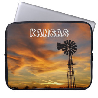 Kansas Golden Sunset Laptop Sleeve. Laptop Sleeve