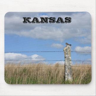 Kansas Hawk on a Limestone Post Mouse PAD