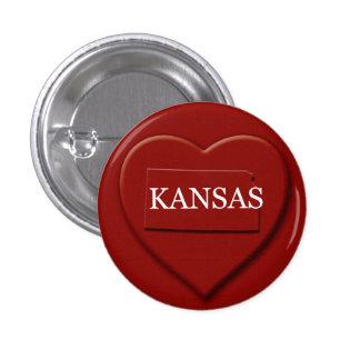 Kansas Heart Map Design Button