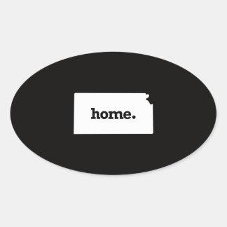 Kansas Home Oval Sticker