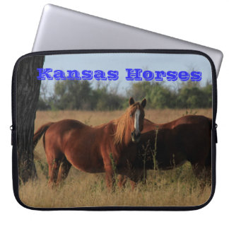 Kansas Horses Neoprene Laptop Sleeve 15 inch