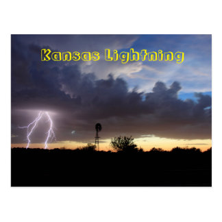 Kansas Lightning POST CARD