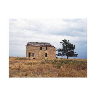 Kansas Limestone Farm House Canvas Print