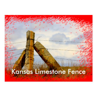 Kansas Limestone Fence Post Card