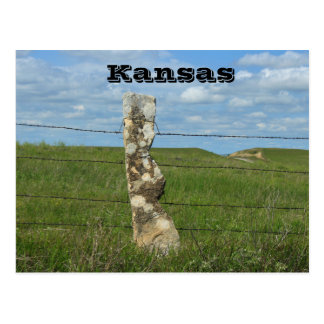 Kansas Limestone Fence Post POST CARD