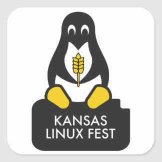 Kansas Linux Fest Stickers