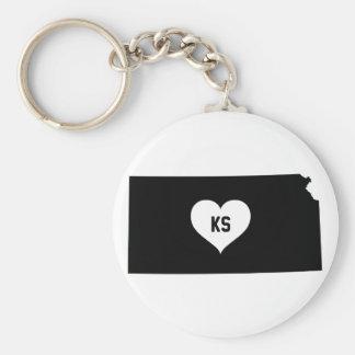 Kansas Love Key Ring
