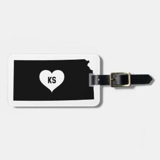 Kansas Love Luggage Tag