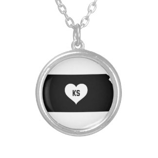 Kansas Love Silver Plated Necklace