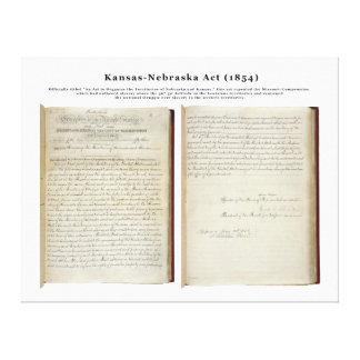 Kansas-Nebraska Act (1854) Gallery Wrap Canvas