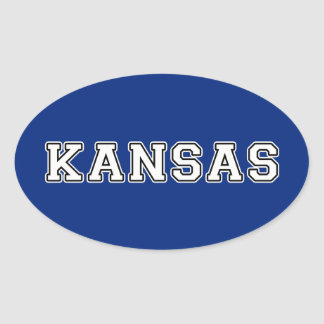 Kansas Oval Sticker
