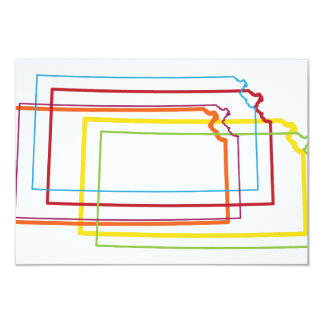 kansas pride blur 9 cm x 13 cm invitation card