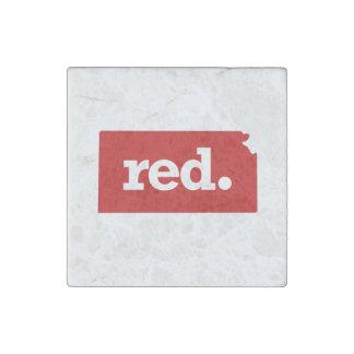 KANSAS RED STATE STONE MAGNET