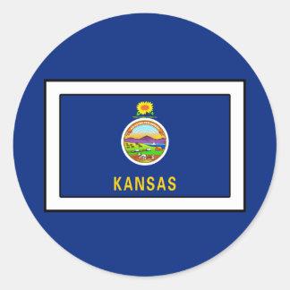 Kansas Round Sticker