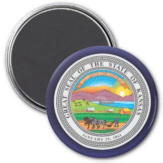 Kansas Seal 7.5 Cm Round Magnet